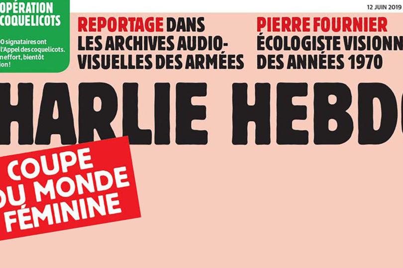 """Charlie Hebdo se llenó de críticas por """"grosera"""" portada dedicada al Mundial Femenino"""