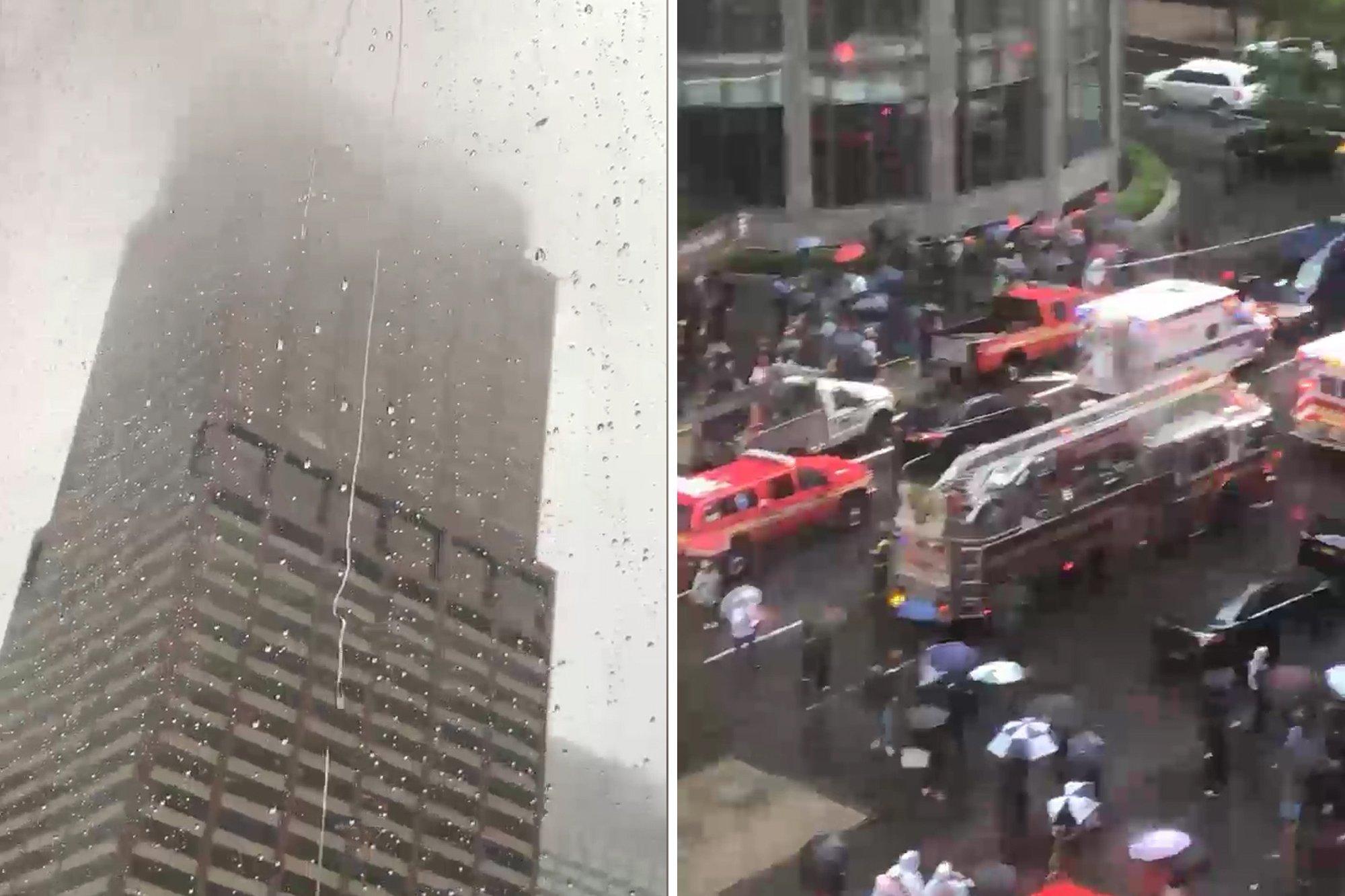 VIDEO l Helicóptero se estrella contra edificio en Nueva York