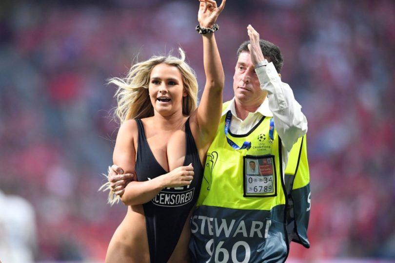 Recluida, multada y con problemas en redes sociales: qué pasó con la mujer que interrumpió la final de la Champions League
