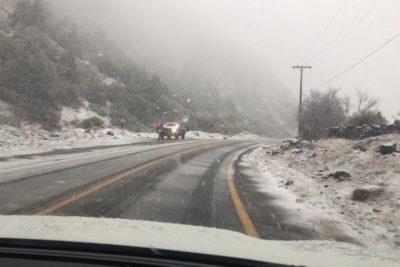 Sistema frontal en la RM: cae nieve en San José de Maipo y más de 20 mil clientes están sin luz
