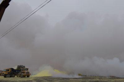Evalúan alerta sanitaria por nube tóxica en Alto Hospico