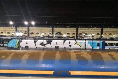 Vagón de Tren Central quedó fuera de servicio por culpa de un gigantesco grafiti