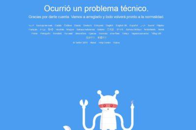 Twitter sufrió caída mundial por más de una hora