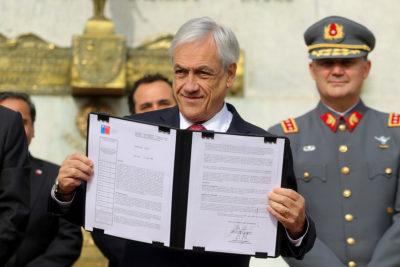 Piñera anuncia decreto que dará atribuciones a las FF.AA. para combatir narcotráfico en fronteras
