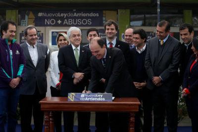 Presidente Piñera firma proyecto que modifica ley de arriendos