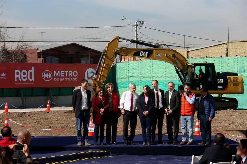 Inician obras de extensión de la Línea 2 del Metro a El Bosque y San Bernardo