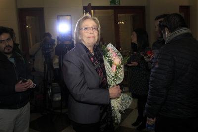 """Repetto fue recibida entre aplausos en la Corte: """"Es reconocimiento a la mujer"""""""