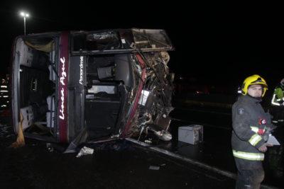 Volcamiento de bus en la Ruta 5 Sur dejó 6 fallecidos y 3 lesionados en riesgo vital