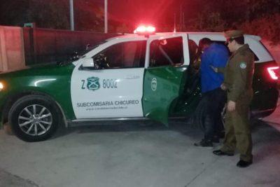 Carabineros detiene a sujeto acusado de robar auto a juez de Santiago