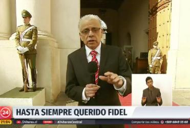 Homenaje de 24 Horas Central a Fidel Oyarzo