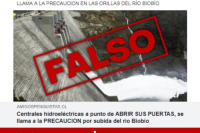 """Intendencia del Biobío denuncia """"fake news"""" sobre apertura de compuertas de embalses"""