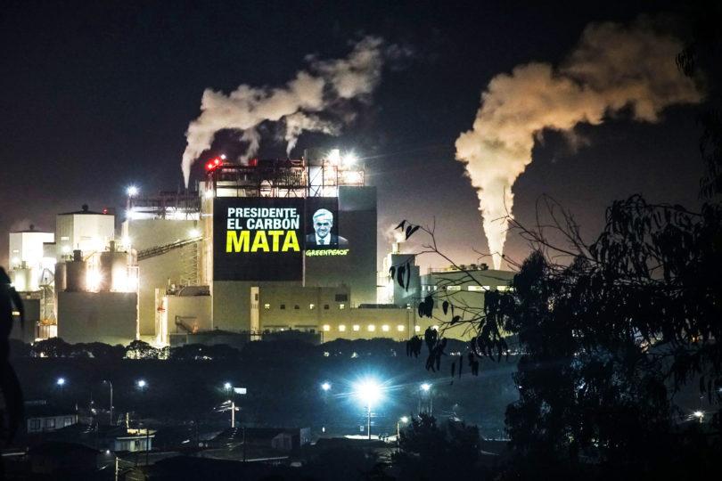 Greenpeace pide cierre inmediato de termoeléctricas en Quintero y Puchuncaví