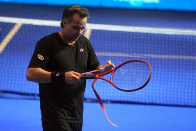 Fernando González volvió a caer en el dobles de leyendas de Wimbledon