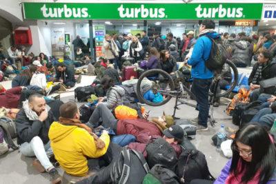 Usuarios reportan retrasos en terminal de buses de La Serena tras eclipse solar
