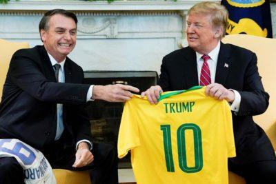 """Donald Trump se reunió con Bolsonaro: """"Es un gran caballero que está haciendo un gran trabajo"""""""