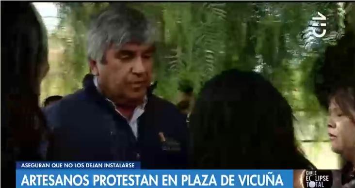 Eclipse solar: cerca de 200 artesanos protestan en Vicuña pidiendo instalarse en la plaza