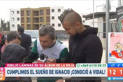 """""""Los sueños sí se cumplen"""": Arturo Vidal conoció al niño que lo dibujó para un álbum"""