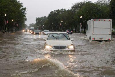 Washington: Torrenciales lluvias inundan carreteras, el metro y hasta la Casa Blanca