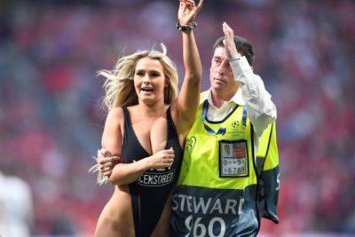 Modelo que interrumpió la final de la Champions intentó hacer lo mismo en la Copa América