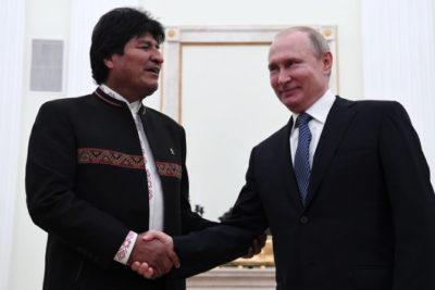 Vladimir Putin y Evo Morales suscriben acuerdos de cooperación: construirán la central nuclear más alta del mundo