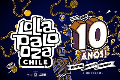 Estos son los precios de las entradas para la celebración de los 10 años de Lollapalooza Chile