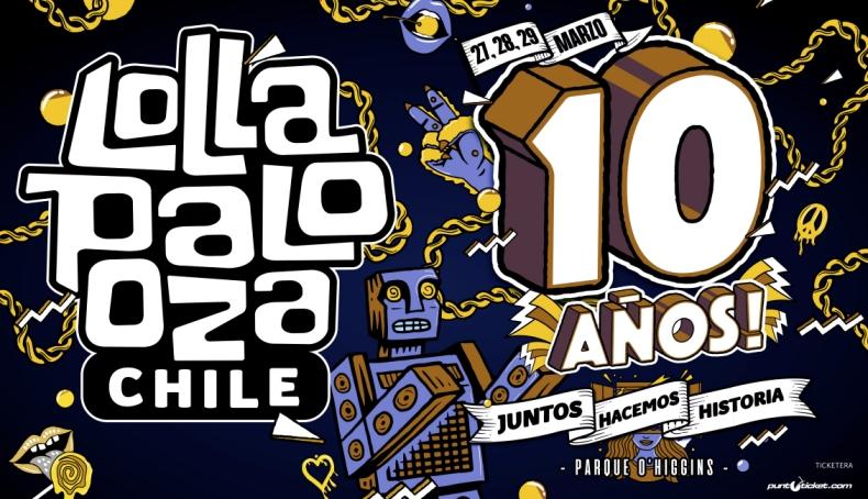 Lollapalooza confirma las fechas para celebrar los diez años de su llegada a Chile