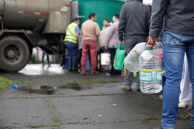 A las 14 horas se empieza a impulsar el agua en Osorno