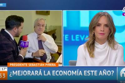 VIDEO + FOTO |Sebastián Piñera terminó regalándole su corbata a periodista del Mucho Gusto en pleno despacho