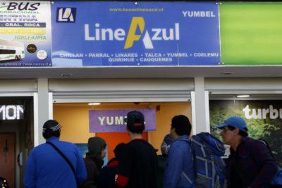 Suspenden todos los servicios de la empresa de buses Línea Azul