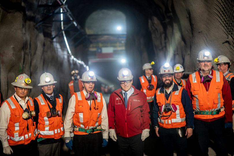 Piñera inaugura operaciones mineras subterráneas de Chuquicamata
