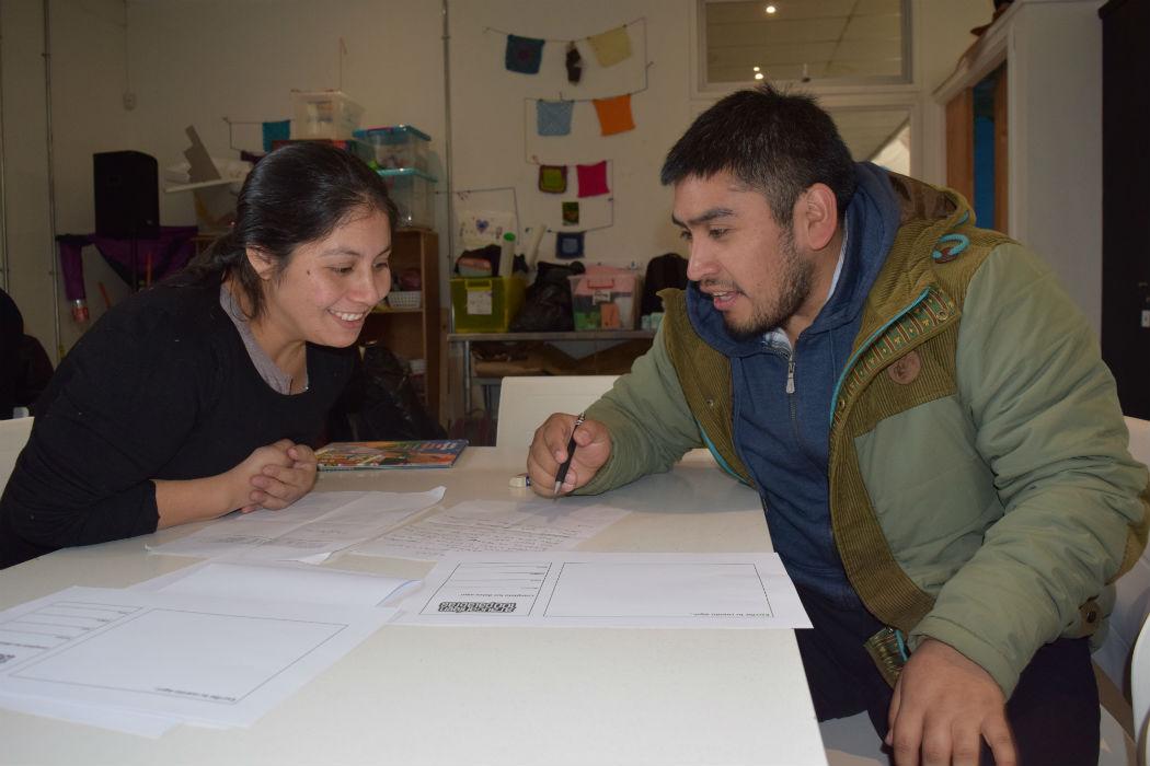 Con taller de escritura en mapudungun