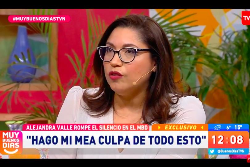 """Alejandra Valle reaparece en TV tras su bullada salida de La Red: """"Me condorié, la embarré y pedí disculpas"""""""