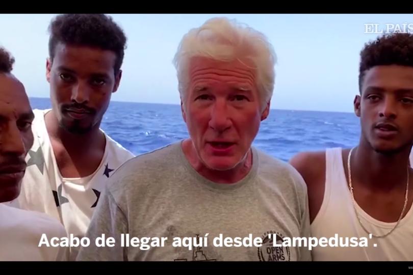 El noble gesto que tuvo Richard Gere con los inmigrantes en el barco Open Arms