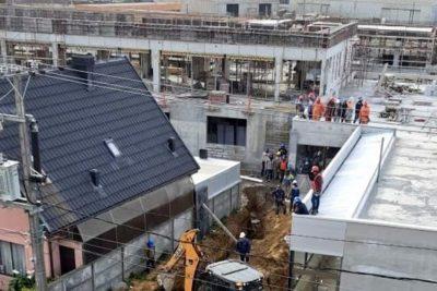 Derrumbe de estructura en Talcahuano deja al menos una víctima fatal