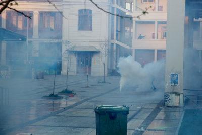 Incendio y manifestaciones: dos detenidos tras incidentes en Liceo de Aplicación