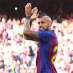 El juego de Dembélé con Arturo Vidal en el entrenamiento del Barcelona