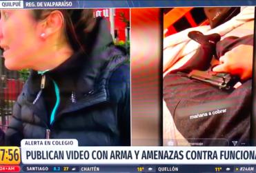 Apoderada del Colegio Aconcagua irrumpe despacho de 24 Horas