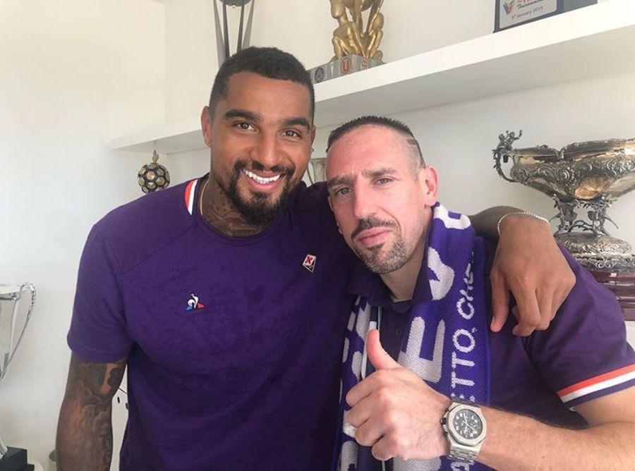 """""""La sorpresiva aparición de logo de la UC en una foto de Boateng y Ribéry"""""""