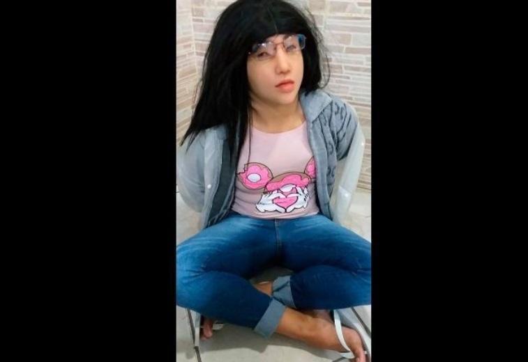 """""""VIDEO    Narcotraficante brasileño intentó fugarse de la cárcel vestido de mujer"""""""