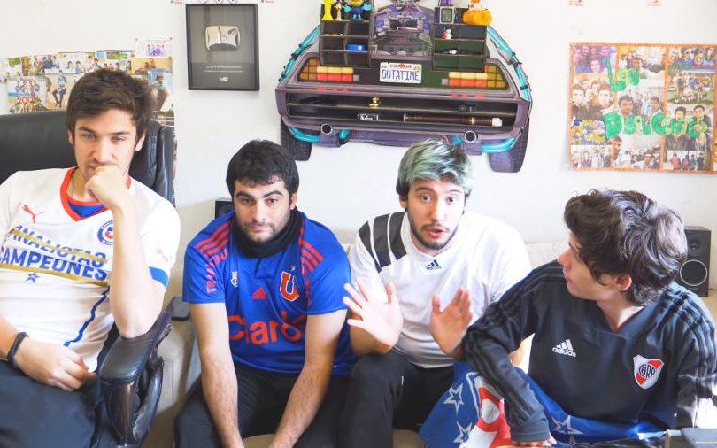 Los Displicentes debutan en el fútbol chileno comentando el clásico universitario