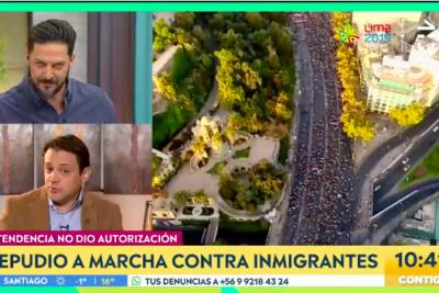 El cruce entre Gaspar Rivas y panelistas de matinal de CHV por migración
