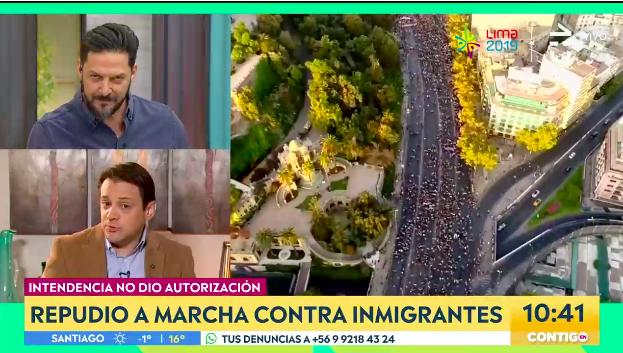 El cruce entre Gaspar Rivas y Rafael Cavada en matinal de CHV por migración