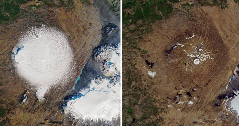 Científicos despiden al primer glaciar derretido por el cambio climático