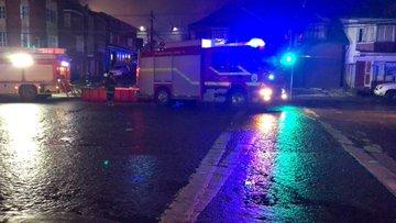 Incendio consumió cuatro inmuebles en zona patrimonial de Ancud