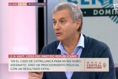"""""""Lo de Camilo Catrillanca no fue un asesinato"""" y otras frases de la última entrevista de José Antonio Kast"""