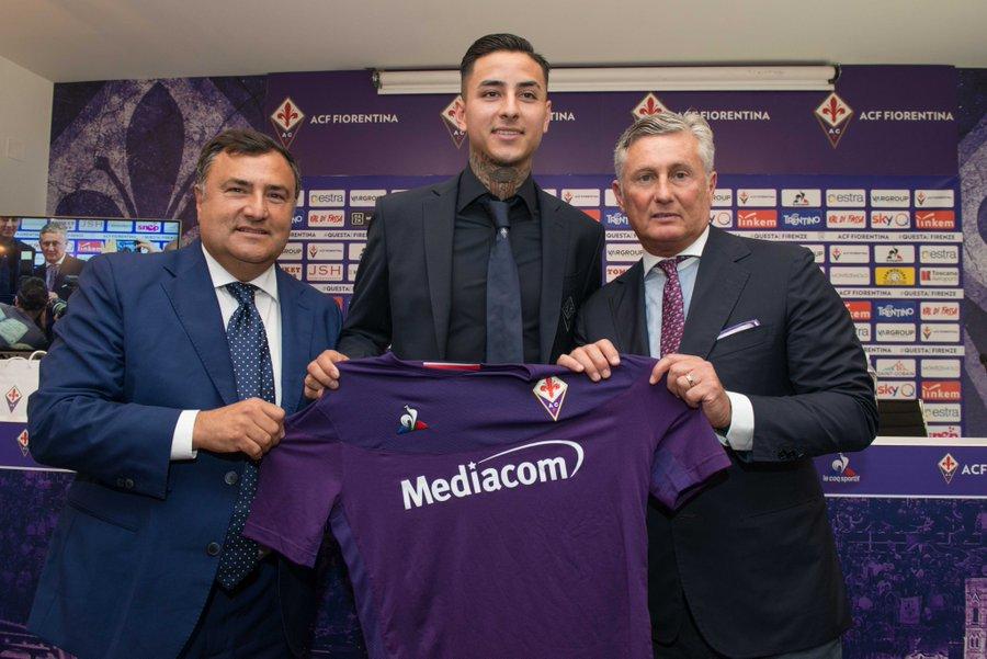"""""""Erick Pulgar fue presentado como nuevo refuerzo de Fiorentina"""""""