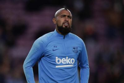Arturo Vidal fue suplente en empate del Barcelona por Champions League