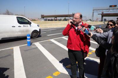 """MOP: ministro Moreno habilita sistema """"Free Flow"""" en la ruta 78"""