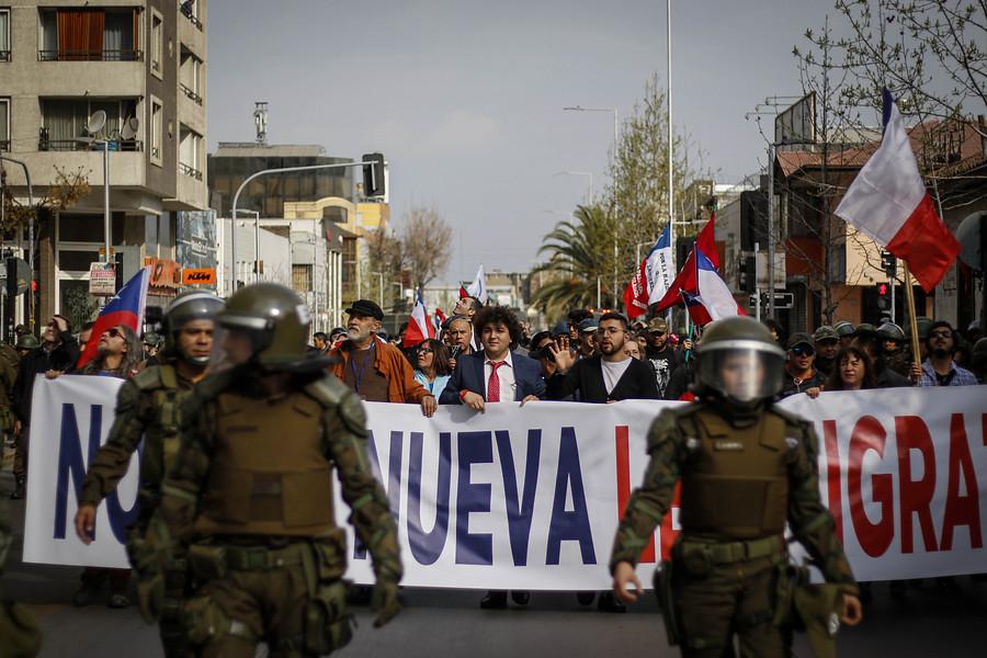 La marcha contra migración fue blanco de burlas ante poca concurrencia