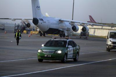 Falso aviso de bomba generó operativo en el Aeropuerto de Santiago